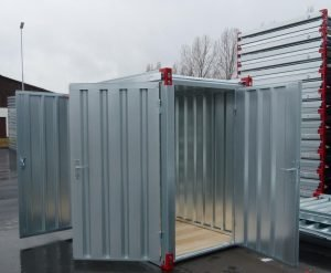 2200 x 1375mm Storage Container with Steel Floor & Double Door