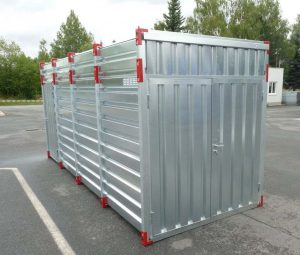 4m Storage Container - 2.43m Inner Height & Double Leaf Front Door