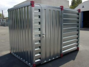 3m COSHH Storage Container with Bunded Floor, Air Grilles & Side Door