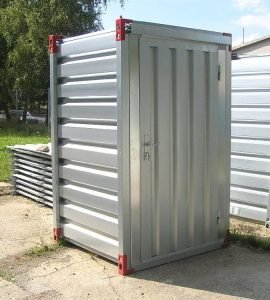 1260 x 1375mm Storage Container with Wooden Floor & Door
