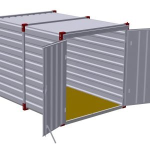 3m Storage Container with Double Doors